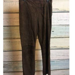 Cache Goat Suede Pants Sz 6 Brown Leather